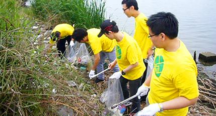 清掃ボランティア参加・地域行事への協賛